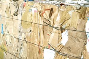 写真:古紙の結束線